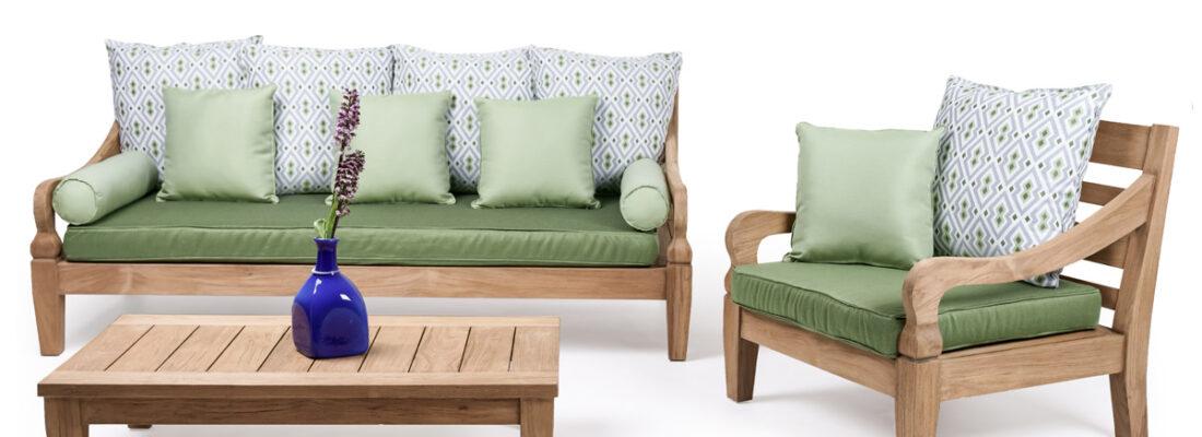 java lounge set brushed teak premium cushions